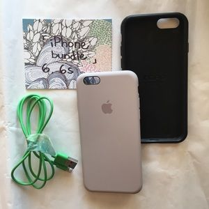 iPhone accessories bundle. 2 cases + charging cord